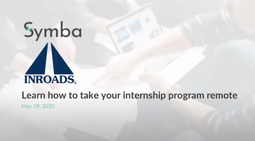 Remote Internship Program webinar Symba